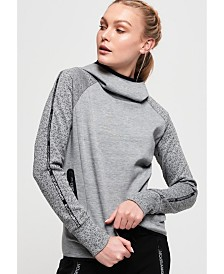 Superdry Core Gym Tech Taped Funnel Hoodie