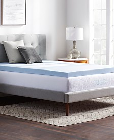 "Dream Collection 3"" Ventilated Gel Memory Foam Mattress Topper, King"