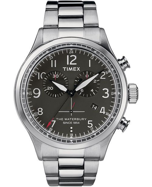 Timex Boutique Timex Waterbury Traditional Chronograph 42mm Stainless Steel Watch