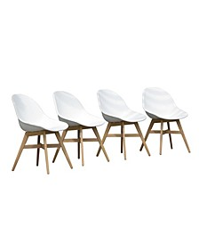 4 Piece Patio Dining Chair Set