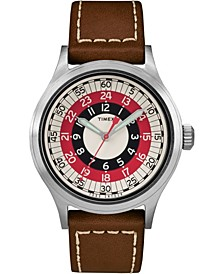 Timex X Todd Snyder Mod Inspired 40mm Leather Strap Watch