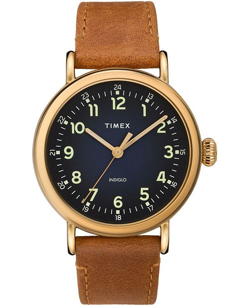 Timex Boutique Timex Standard 40mm Leather Strap Watch