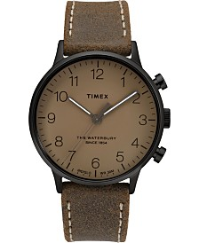 Timex Waterbury Classic 40mm Leather Strap Watch