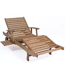 Patio Chaise Lounger with Cushion