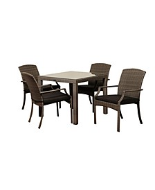 5 Piece Patio Dining Set Square