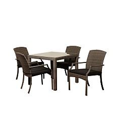 5 Piece Patio Dining Set Square