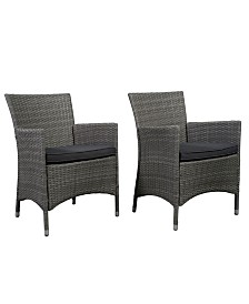 2 Piece Patio Dining Chair Set