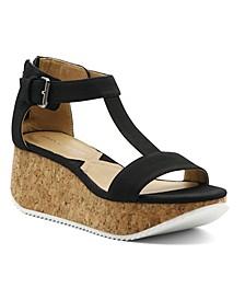 Chaps Platform Wedge Sandal