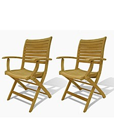 2 Piece Patio Dining Chair Folding