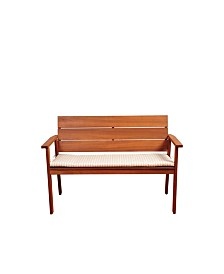 2 -Seater Patio Bench with Cushion