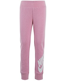 Nike Little Girls Futura Tapered-Fit French Terry Logo Joggers