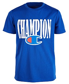 Champion Big Boys Logo-Print Mesh Football Jersey