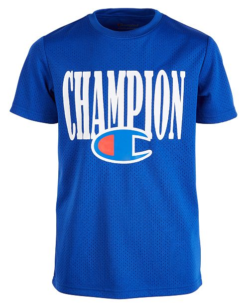 Champion Big Boys Logo-Print Mesh Football Jersey