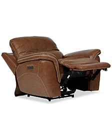 "Hadsden 43"" Leather Power Motion Recliner"