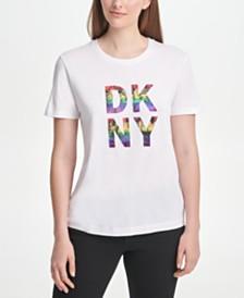 DKNY Rainbow City Logo T-Shirt