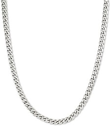 "24"" Curb Chain Necklace in Stainless Steel"