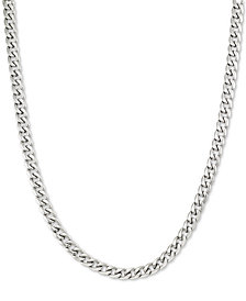 "LEGACY for MEN by Simone I. Smith 24"" Curb Chain Necklace in Stainless Steel"