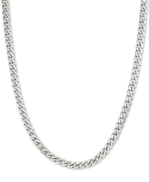 """Smith 24"""" Curb Chain Necklace in Stainless Steel"""