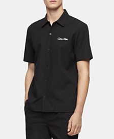 Calvin Klein Men's Logo Stripe Shirt