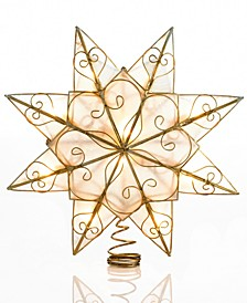 10-Light 8-Point Capiz Clear Star Treetop