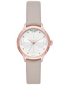 Women's Rosebank Gray Leather Strap Watch 32mm