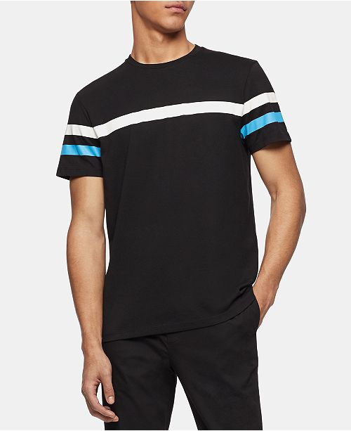 eee007b5 Calvin Klein Men's Stripe T-Shirt & Reviews - T-Shirts - Men - Macy's
