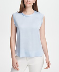 DKNY Flutter-Sleeve Top