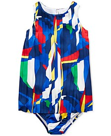Baby Girls Pleated Graphic Dress