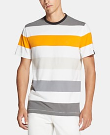 DKNY Men's Yarn-Dyed Colorblocked Stripe T-Shirt