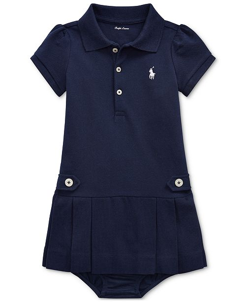 ac56f33566 Baby Girls Pleated Cotton Polo Dress