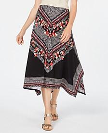 Printed Handkerchief-Hem Skirt, Created for Macy's