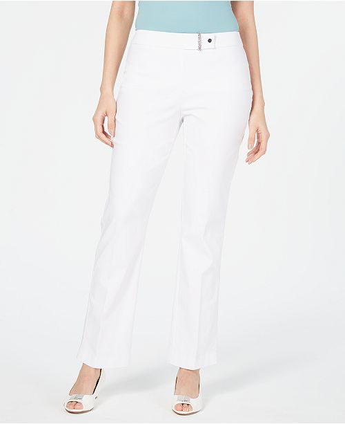 JM Collection Curvy-Fit Tummy-Control Pants, Created for Macy's
