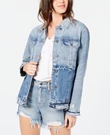 Hidden Jeans Two-Tone Oversized Jean Jacket