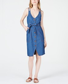 OAT Double-Strap Patch-Pocket Jean Dress