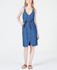 OAT Double-Strap Patch-Pocket Jean Dress