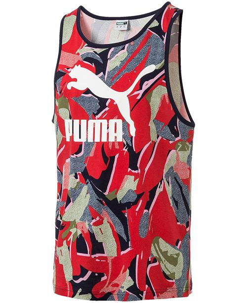 Puma Men's Printed Tank Top