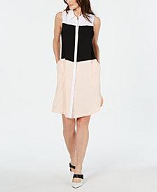 Alfani Petite Tiered Shirtdress, Created for Macy's