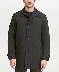 Men's Button-Front Water Resistant Rain Coat