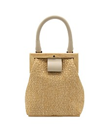 La Regale Zig Zag Raffia Mini Purse