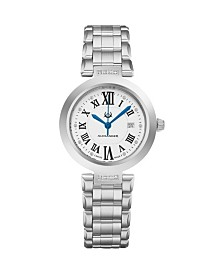 Alexander Watch AD203B-01, Ladies Quartz Date Watch with Stainless Steel Case on Stainless Steel Bracelet