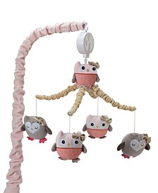 Lambs & Ivy Family Tree Owl Musical Baby Crib Mobile