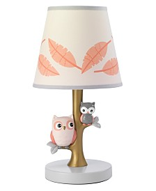 Lambs & Ivy Family Tree Owl Nursery Lamp with Shade and Bulb