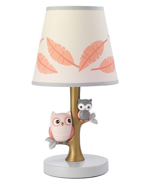 Lambs & Ivy Family Tree Owl Nursery Lamp with Shade and Bulb