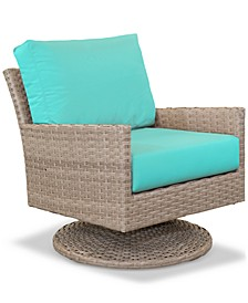 Amari Parchment Outdoor Swivel Chair With Sunbrella® Cushions