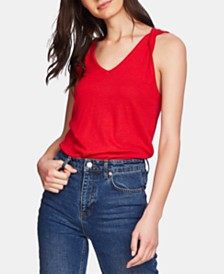 1.STATE Sleeveless Twisted-Strap Top