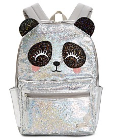 FAB Little & Big Girls Sequinned Panda Backpack