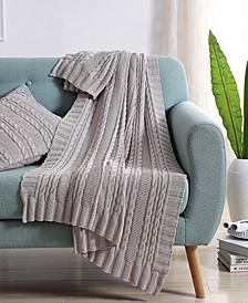 Dublin Cable Knit Throw Blanket