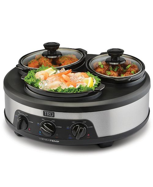 TRU Versatemp Multi-Insert Slow Cooker with Hot and Cold