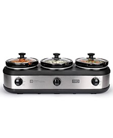3 x 1.5-Quart Triple Slow Cooker