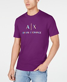 A|X Armani Exchange Men's Pride ROY G. BIV Logo T-Shirt Created For Macy's